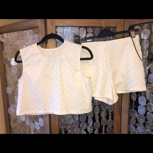 Sabo Skirt Other - White tank and shorts top